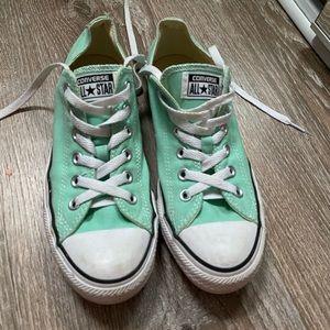 Women's aqua/teal Converse shoes